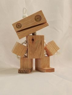 Wooden Robot by TheRobotConsortium on Etsy https://www.etsy.com/listing/64619757/wooden-robot