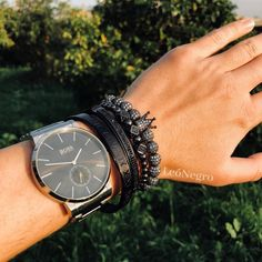 ⚜ The Apollo Black Set ⚜  Designed to make a BOLD statement ↓ Level Up Your Wrist Game with Our Best Seller  Free Shipping | Lifetime Warranty | Premium Quality ✭ EXTRA 15% OFF || USE CODE - 'GOLD15' ✭ What Men Want, Apollo, Bracelets For Men, Luxury Branding, Shop Now, Bangles, Elegant, Roman, Stainless Steel