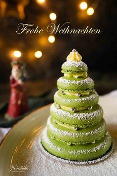 Festliche Tannenbaum Macarons - Maren Lubbe - Feine Köstlichkeiten Baking And Pastry, All Things Christmas, Beverages, Drinks, Sweets, Desserts, Recipes, Food, Vegan