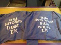 big little shirts, so cute!
