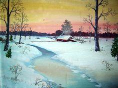 Vintage winter scene...