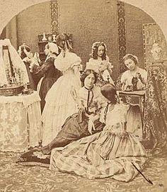 Fashion #Milliner Workshop Old Stereo Photo 1860'