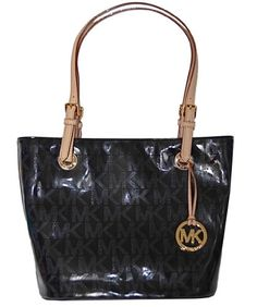 5eb80c662c654d Michael Kors Black MK Mirror Metallic Item MD « Clothing Impulse Mk  Handbags, Cheap Handbags