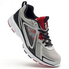 2c346b31e715 FILA Memory Threshold 2 Mens CoolMax Running Shoes Silver Black Red size 12  NEW 39.99 http