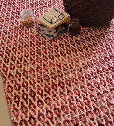 The Rug Republic Multicolour Wool & Cotton Geometric Hand Woven Area Rug