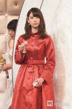Hashimoto Nanami, Satin Dresses, Cute Girls, High Neck Dress, Leather Jacket, Lady, Jackets, Beauty, Beautiful