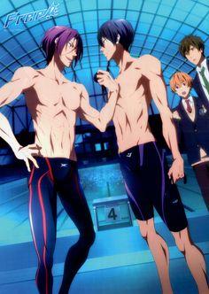 Free! Swimming Anime Wallpaper Haruka and Rin