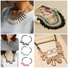 Cheap necklace bead, Buy Quality necklace shell directly from China jewelry name necklace Suppliers: 	Hot Sale Women Fashion Charm Jewelry Chain Pendant Crystal Choker Chunky Statement Bib Necklace			Brand new and high qu