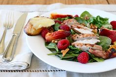 grilled peach and raspberry salad by annieseats, via Flickr