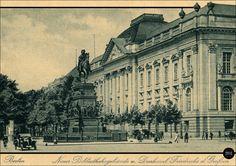 Berlin - Neues Bibliotheksgebäude und Denkmal  Friedrichs den Großen  ca 1926