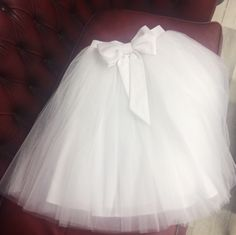 Tulle Skirt with bow. Length can be Midi, Mini, Maxi as well. Level of fluffy can be 1,2,3,4. by BowsAndTulle on Etsy