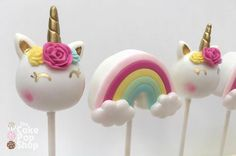 "415 Likes, 7 Comments - The Cake Pop shop by Jennie (@the_cakepop_shop) on Instagram: ""Close up of the unicorn and rainbow cake pops. These colors were fun! #cakepops #rainbows…"""
