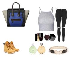 """""""Untitled #24"""" by manugeral on Polyvore featuring Topshop, Timberland, Glamorous, Hermès and Chanel"""