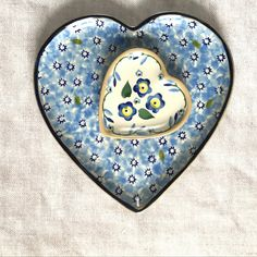 Our handmade pottery Hearts come in two sizes Medium and Tiny and in various patterns Irish Pottery, Pottery Plates, Pottery Making, Engagement Gifts, Handmade Pottery, Clay Creations, Baby Blue, Ireland, Valentines Day