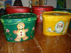 Can you believe that these cute Christmas containers once held ice cream!