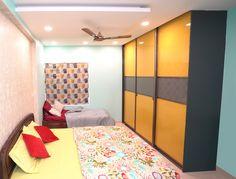 HomeLane: Full Home Interior Design Solutions, Get Instant Quotes. Beautiful Houses Interior, Beautiful Interiors, Modular Wardrobes, Wardrobe Storage, Free Interior Design, Wardrobe Design, Living Room Designs, Home Goods, House Design