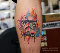 Watercolor Stormtrooper tattoo by Dres X -...