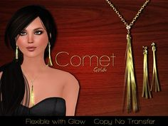 Second Life Marketplace - Exquisite Comet Gold Jewelry Set