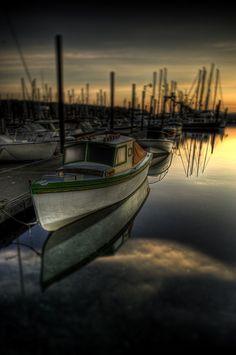 Small boat in Friday Harbor at Sunrise :: HDR Friday Harbor Wa, Evergreen State, San Juan Islands, Hdr Photography, Small Boats, Fishing Boats, Dream Vacations, Beautiful World, Kayaking
