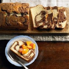 Chocolate and vanilla meet in this Milk Chocolate Marble Loaf Cake. More of our best chocolate cake recipes: http://www.bhg.com/recipes/desserts/cakes/chocolate-cakes/?socsrc=bhgpin082213marbleloaf=15