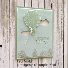 Summer Sorbet (balloon and sentiment), Umbrella Weather Framelits (clouds), Lovely as a Tree