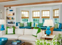 The Domestic Curator: SUMMER-FY YOUR HOME - HOW-TO Lighten and brighten your home's décor for the coming Summer months.
