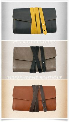 Beautiful M. Hulot clutches from Independent Boutique