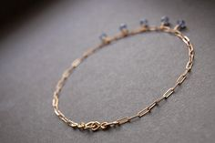 Tanzanite Half Shaker Anklet gold anklet gold drop by MajaOlender