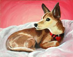 Dog painting by Elissa Surabian  Custom Painting