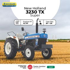 No. Of Cylinder 3 Engine HP 42 HP PTO HP 39 HP Gear Box 8 Forward + 2 Reverse Brakes Mechanical, Real Oil Immersed Brakes Warranty 6000 Hours or 6 Year New Holland Agriculture, Tractor Price, New Holland Tractor, Tractors, Engineering, Oil, Technology, Butter
