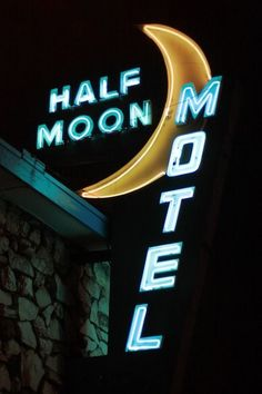 half moon motel // vintage neon signage