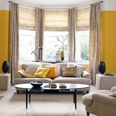 Drapery Ideas For Bay Windows Ideas For Dressing Bay Windows Using Full Length Curtains