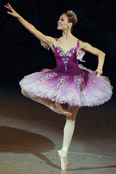 purple and white www.theworlddances.com/ #costumes #tutu #dance