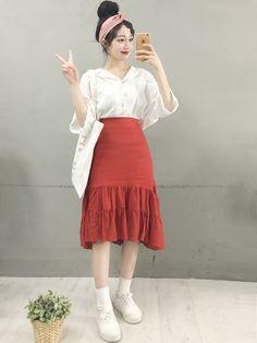 Korean Street Fashion, Korea Fashion, Vogue Fashion, Fashion Wear, Asian Fashion, Fashion Outfits, Mens Fashion, Chubby Girl Fashion, Classy Outfits