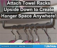 Organization - Create Hanger Space Anywhere
