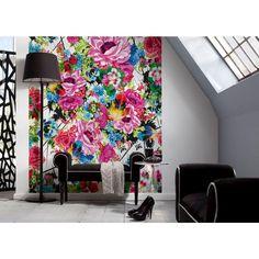 100 in. x 72 in. Romantic Pop Wall Mural, Multicolor