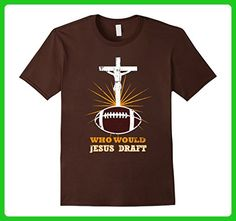 Mens WWJD Shirt Who Would Jesus Draft Funny Fantasy Football Tee Small Brown - Fantasy sci fi shirts (*Amazon Partner-Link)