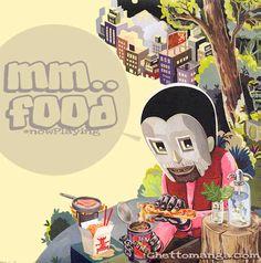 """JASON JÄGEL: """"MM..FOOD"""" - MF DOOM (Back cover)"""