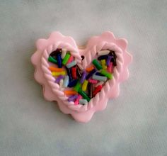 Valentine's Pink Frosted Cookie Pendant by SweetARTbyAshley