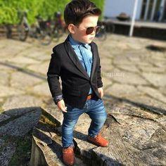 cool Okay, true or false - little boys dressed up like men just make your heart melt?...