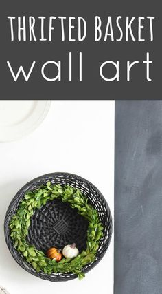 Decorating with thrifted finds, the basket edition. Snatch up shallow baskets with cool textures and turn them into wall art with Reinvented.