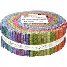 Maywood Woolies COLORS Cotton Flannel 40 Jelly Roll 2.5 Inch Strips Fabric #MaywoodWoolies