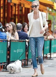 Olivia Palermo...great everyday look that is still looks very polished....shop at Jcrew for this look