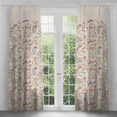 Sorong Poppy Floral Design Extra Long Curtains