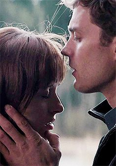 """Jamie Dornan and Dakota Johnson Fifty shades of grey movie """"""""I never took anyone else in the helicopter, never had sex in my own bed, never slept next to anyone else. Only you."""" """""""