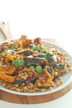 warm salad of roast pumpkin & chickpeas