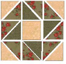 Christmas wreath quilt block pattern