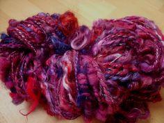 Prune folle, écheveau filé main, 140g et environ 100m : Mercerie par angauvergne-laine-angora