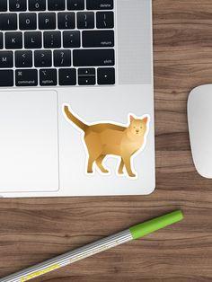 Bring out your wild side with our geometric cat art. Geometric Animal, Cat Stickers, Cat Art, Corgi, Cats, Artwork, Animals, Design, Corgis