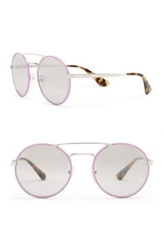 Brand New in Case PRADA Violet Catwalk Round with Smoke Lenses Sunglasses. They are MADE IN ITALY GORGEOUS!!!! They retail for $340.00 They come in their Original Box and include a PRADA Hard Case and Certificate of Authenticity. PRODUCT DETAILS Style PR-51SS54-YZ Color VIOLET Details Style: Round Frame Material: Acetate/metal Frame Color: Violet Lens Color: Smoke Size: 54-22-135mm (eye-bridge-temple) Case included Made in Italy Prada Sunglasses, Sunglasses Accessories, Women's Accessories, Mirrored Sunglasses, Best Slippers, Round Frame, Catwalk, Lenses, Retail